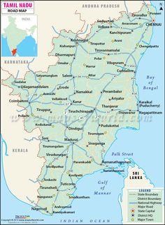 #Tamil Nadu, India~map