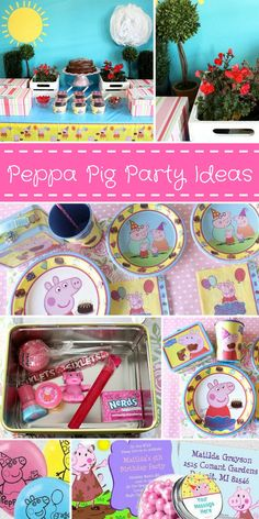 I'm thinking about throwing a Peppa Pig birthday party for my soon to be 3-year-old and I'm loving these decoration ideas! via birthdayinabox.com #ad #peppapigparty #birthday #toddler