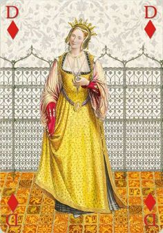 A radiant duchess from the 15th century. Une duchesse au XVème siècle
