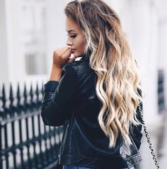 long brunette to blonde ombre hair curly