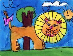 Keana's Lion   Art Projects for Kids