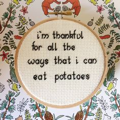 Potatoes Cross Stitch by SasssyStitcher on Etsy