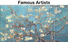Van Gogh Almond Blossoms Ceramic Tile Mural on Tiles Van Gogh Almond Blossom, Tile Murals, Kitchen Tiles, Vincent Van Gogh, Famous Artists, Pretty Pictures, Ceramics, Image, Blossoms