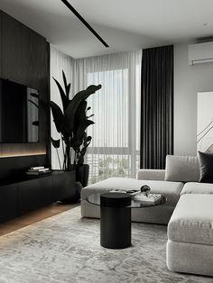Decor Home Living Room, Elegant Living Room, Living Room Interior, Modern Interior Design, Interior Architecture, Home Room Design, House Design, Living Room Tv Unit Designs, Dream House Interior