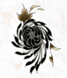 Japanese Peony Tattoo, Japanese Tattoo Designs, Flower Tattoo Designs, Flower Tattoos, Black Tattoos, Body Art Tattoos, Sleeve Tattoos, Lirio Tattoo, Flor Oriental Tattoo