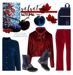 """Velvet Autumn"" by snowbell ❤ liked on Polyvore featuring Altuzarra, Sies Marjan, Kensie and velvet"
