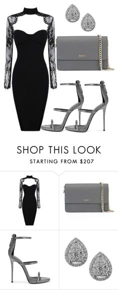 """Untitled #349"" by samstyles001 on Polyvore featuring DKNY, Giuseppe Zanotti and EWA"