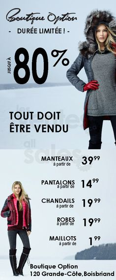 Vente d'entrepôt mode homme & femme -80% | lesventes.ca