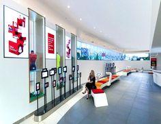 Bilder einer innovativen Konzeptfiliale einer Bank in Südafrika