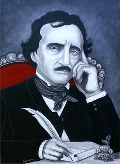 Edgar Allen Poe Painting - Darkness In The Mind And The Pen by Al Molina
