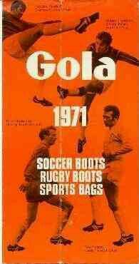 Gola Sports boots and bags in 1971.