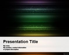 Naive Dark PowerPoint Template is a free techno PowerPoint template for presentations with a dark background and horizontal lines with different colors