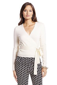 acae112577e0 Ballerina Wool Wrap Sweater in in Ivory Designer Work Dresses