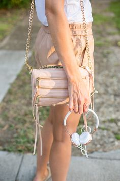 Pastel love with this blush Rebecca Minkoff bag!