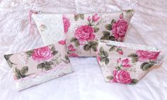 Shabby Chic Zipper Pouch Set with Tissue Holder and by KeriQuilts, $29.00