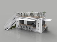 container coffee shop Container Cafe and Restaurant shipping model Cafe Shop Design, Kiosk Design, Cafe Interior Design, House Design, Container Home Designs, Container House Plans, Container Homes, Deco Restaurant, Restaurant Design