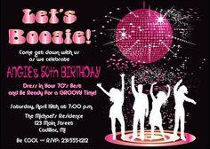70s Party Invitations Printable 1970s Theme Party Invitation