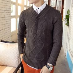 V Neck Textured Sweater http://www.sneakoutfitters.com/Fall-2013-Collection/V-Neck-Textured-Sweater-p4508.html