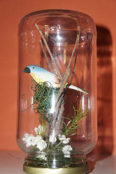 Redoma de vidro de azeitona