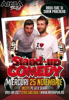 Miercuri, 25 Noiembrie 2015, ora 20:00, Arena Pub, Bucuresti Comedy Show, Stand Up, Budapest, Movies, Movie Posters, Get Up, Film Poster, Films, Popcorn Posters