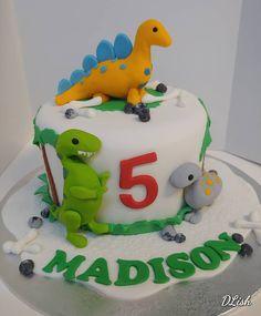 Dinosaurs #dinosaurs #palmtrees #tiered #cake #dlish Dinosaurs, Birthday Cakes, Palm Trees, Unisex, Desserts, Instagram, Food, Meal, Anniversary Cakes