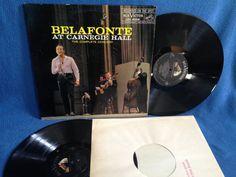 Vintage Harry Belafonte  At Carnegie Hall Vinyl by sweetleafvinyl
