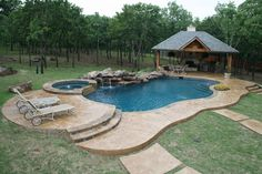 I need this exquisite photo Backyard Pool Designs, Small Backyard Pools, Swimming Pools Backyard, Pool Spa, Swimming Pool Designs, Pool Decks, Pool Landscaping, Lap Pools, Indoor Pools