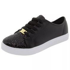 76fea062d8c tênis infantil feminino molekinha cor preto com glitter