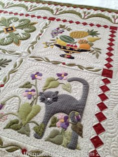 I love the borders, sashings and quilting on this one