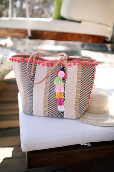 LOVE the tassel tote for the beach