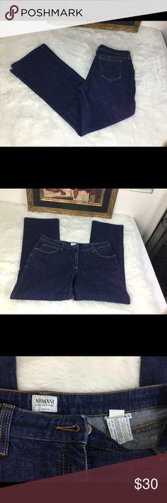 """🆕Listing.Armani Collezioni Designer Jeans.  Sz 10 Armani Collezioni designer jeans.  Sz 10. Waist 16"""". Inseam 29"""". Rise 9.5"""".  In good condition. Armani Collezioni Jeans Boot Cut"""