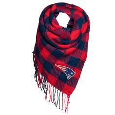 Women's New England Patriots Oversized Scarf ($30) ❤ liked on Polyvore featuring accessories, scarves, oversized scarves and oversized shawl