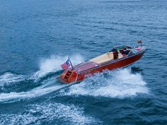Hacker-Craft sport boats - still hand made in mahogany today - if you have boat loads of money.
