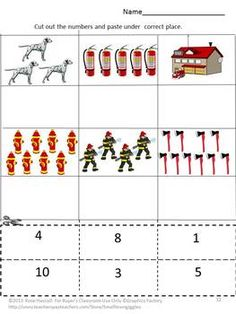 Fire Safety Cut and Paste Worksheets- Pre- K, K and Special Education contains 16 worksheets. This Fire Safety Cut and Paste set can be used to teach students about the danger of Fire and how to be safe. It can be used as part of Thematic Unit.
