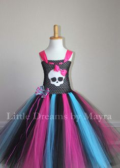Monster High inspired tutu dress and FREE by LittledreamsbyMayra