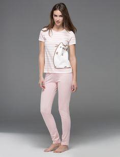 women'secret | Products | Pusheen long cotton pyjama