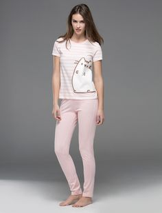 women'secret Cotton Sleepwear, Cotton Pyjamas, Style Casual, Casual Outfits, Fashion Outfits, Pijamas Women, Pusheen, Cosy Outfit, Visual Kei