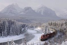 Relaxing route through the Rockies