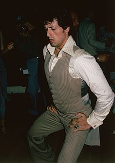 Sylvester Stallone dancing at Studio 54--I was observing him 2 feet away, shocked at how short he was, and not cool AT ALL! DISAPPOINTING, because I had a crush on him as Rocky just came out!