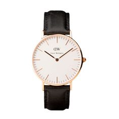 Classic Sheffield Ladies Daniel Wellington watch with black leather strap and rose gold case Daniel Wellington Damen, Daniel Wellington Classic Sheffield, Daniel Wellington Watch, Dezeen Watch Store, Sheffield Silver, St Andrews, Diamond Are A Girls Best Friend, Watches For Men