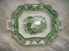 "Antique T. Mayer ""Canova"" Pearlware Tray  Stoke -Upon -Trent    circa 1830"