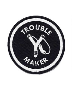 Trouble Maker Patch-Badaboöm Studio-Strange Ways One Piece Oc, Refugees, Zack E Cody, The Adventure Zone, Provocateur, Persona 5, Character Aesthetic, Pin And Patches, Punk