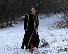 10% DI SCONTO! Surcoat medievale maschile; cappotto mens