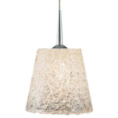 Bling I 120 Down MP Pendant by Bruck Lighting   $222.50-$287.50 Dimensions:  Fixture: Height 4.3 In., Diameter 4.8 In.  Cable: Length 59 In.  Ceiling Canopy: Diameter 4.5 In.  Hanging Length: Overall Length Adjustable to 63.3 In.