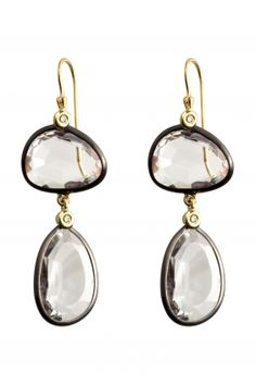 #gold crystal rock and diamond #earrings I designed for NEW ONE I NEWONE-SHOP.COM