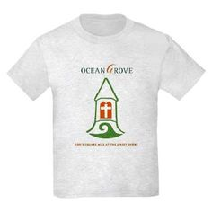 Ocean Grove New Jersey T-Shirt, God's square mile at the Jersey Shore, created by Cara Louise at Heritage Heartcraft