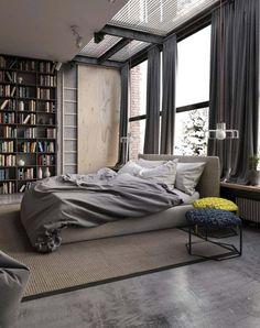 man cave // city life // urban men // bedroom // city style // city suite // interior // wall art //home decor //