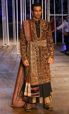 Tarun Tahiliani Menswear collection at India Bridal Fashion Week 2013