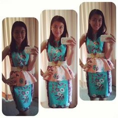 sweet batik , kanaya peplum dress we love pic courtesy by : Inke Juliet Tandry