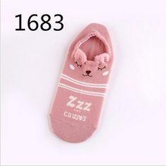 938c87c2e Cute Girl Socks Winter Autumn Funny Socks Cotton Ankle Animal Zoo Pig Bear  Cartoon Ears Socks For Women